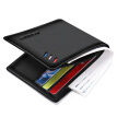 BOSTANTEN Men's Wallet Cowhide Cross Wallet Men Short Business Casual Wallet B3173033 Black