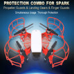 Protection Combo Including Propeller Guards & Landing Gear Stabilizers & Finger Guards for DJI Spark