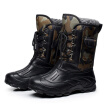 Autumn Winter Warm Men Fashion Snow Boots Military Fishing Skiing Waterproof Simple Casual Mid-calf Shoes