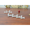 10 Pcs Set Cute Rabbit Ceramic Chopsticks Rest Rack