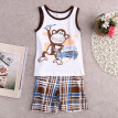 Toddler Kids Baby Boys Summer Outfits T-shirt Tank Tops+Pants 2pcs Clothes Set