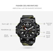 Fashion Military Sport Watches for Men Male Outdoor Waterproof Dual LED Digital Quartz Wristwatch Time Clock Gift
