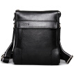 P.kuone® Brand 2015 Hot sell Men Genuine leather messenger Bags  Men's Shoulder Bag vintage casual  leather classic bag for men