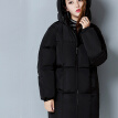 City plus CITYPLUS 2017 winter new style women women casual thickening bread clothes cotton clothing large yards wild long paragraph down jacket cotton CWMF179757 black L
