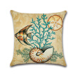 Ocean Park Cotton Linen Theme Decorative Pillow Cover Case