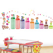 Yuhuaze Children's Room Removable DIY Decorative Wall Stickers Set of 3 Height Set +99 Multiplication Table + Cartoon Animal Wallpaper