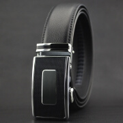xsby Ratchet Belt for Men Sliding Automatic Buckle Designer Leather Strap 35mm width