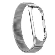 For Xiaomi MI Band3 Magnetic Milanese Loop Stainless Steel Mesh Watch Band Strap