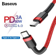 Baseus PD 3.0 60W Type-c To C USB Cable for Huawei Xiaomi QC 4.0 quick Charging Cable for Macbook Support data transmission