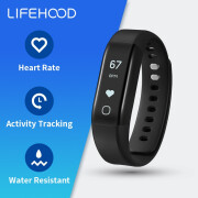 Английская версия Lifesense MAMBO2 Heart Rate Monitor Heart Rate Bracelet Спортивная группа 2 Touch OLED Screen Smartband