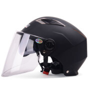 Yema 325 Motorcycle Helmet, One Size, black