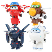 Audi diamonds (AULDEY) super Fei Fei mini deformation robot(4pcs)