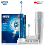 Braun Oral B 4000 3D Sonic Intelligent Electric Toothbrush Blue (4 modes, 2 replacement brush heads, 1 travel box)