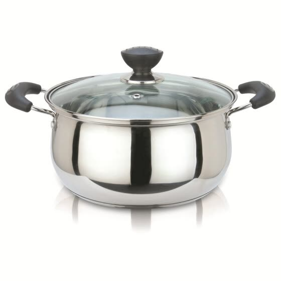 US kitchen (maxcook) stainless steel soup pot bottom curved 22CM elegant kitchen series YC-22 (available induction cooker)