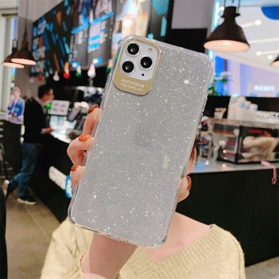 Luxury Glitter Camera Protection Phone Case For iPhone 11 Pro XS Max XR X 6 6S 7 8 Plus Shining Hard PC Soft frame Back Cover