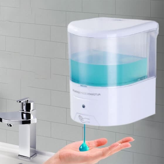 Shop Battery Powered 600ml Wall Mount Automatic Ir Sensor Soap Dispenser Touch Free Kitchen Soap Lotion Pump For Kitchen Bathroom Online From Best Bedding Accessories On Jd Com Global Site Joybuy Com