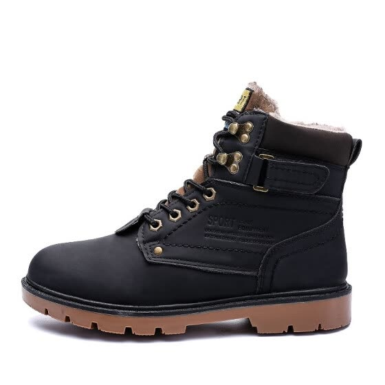 9d5c919c5a3 2018 Winter Fur Warm Male Boots For Men Casual Shoes Work Adult Quality  Walking Rubber Brand