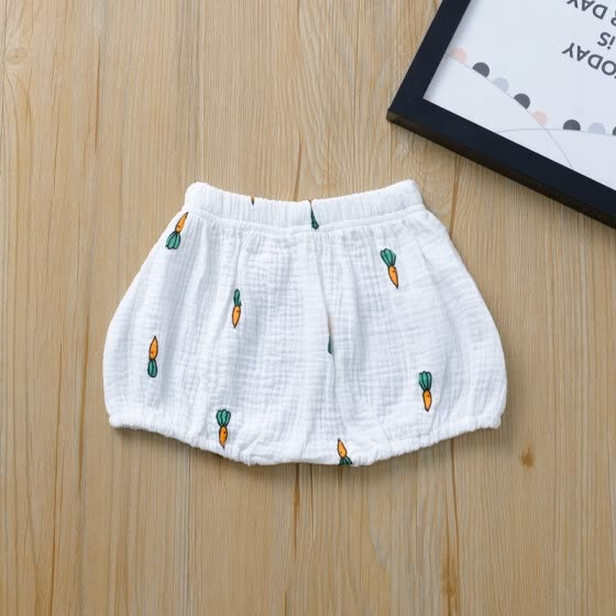 Summer Boys Shorts Cute Girls Short Bloomers Newborn Briefs Diaper Cover Infant Panties Elastic Big PP Pants Cotton Bread Pants