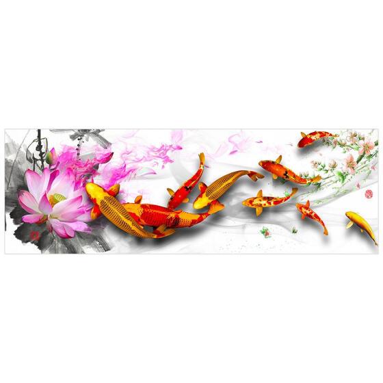 5D DIY Full Drill Diamond Painting Fish Cross Stitch Embroidery Mosaic Kit