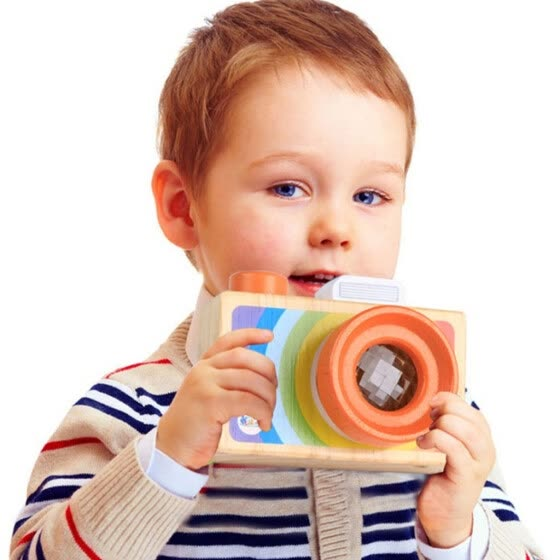 Tailored Kids Cute Wood Camera Toy Xmas Children Room Decor Natural Safe Wooden Camera