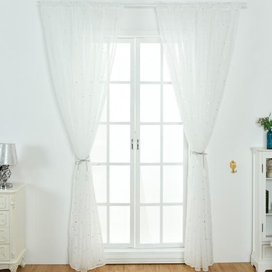 1Pcs Solid Window Curtain Drape Panel Daylight Protection Sheer Scarf Valances