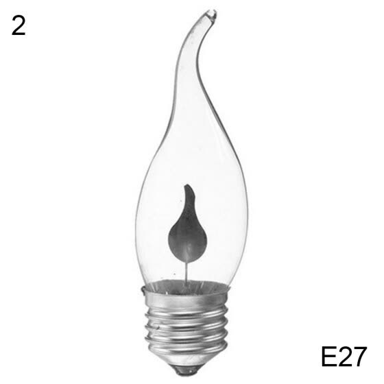 Bluelans 3W 220V E14/E27 LED Simulation Flicker Flame Candle Light Bulb Decorative Lamp