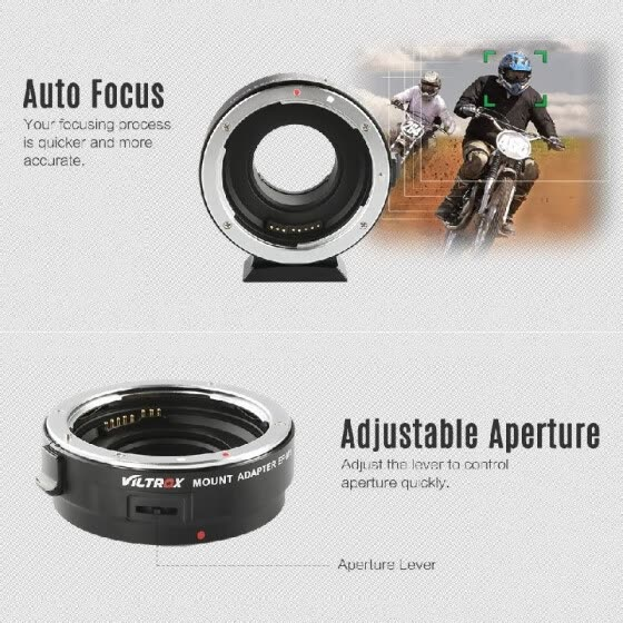 Viltrox EF-M1 Lens Adapter Ring Mount AF Auto Focus Aperture Control VR Stabilization for Canon EF/EF-S Lens to M4/3 Micro Four Th