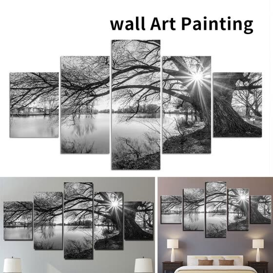 5 Panel Wall Painting Home Picture Frameless Modern Wall Prints for Living Room