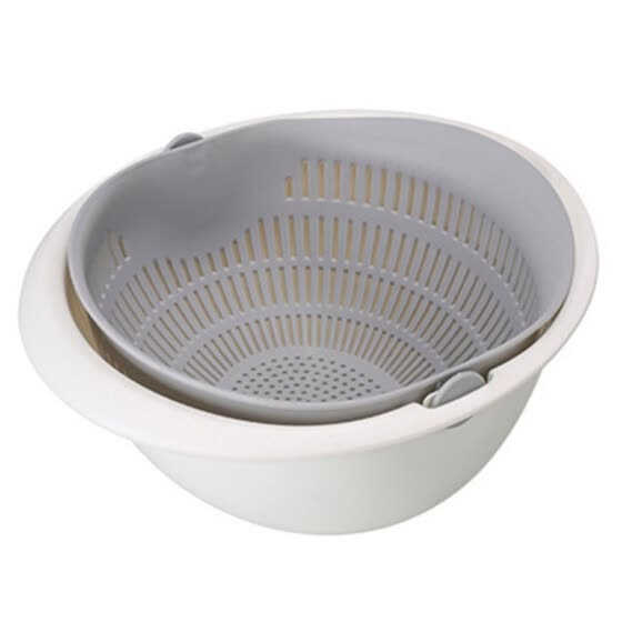 New Portable Fruit Vegetable Cleaning Drain Basket  Detachable Double-layer Hollow Home Kitchen supplies
