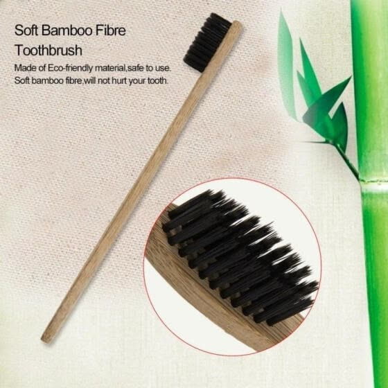 Wooden Bamboo Soft Eco-Friendly Toothbrush Bristle Hair Oral Dental Health Care