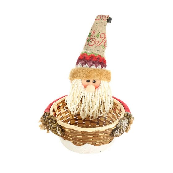 Christmas Decorations Artificial Bark Candy Baskets Christmas Children\'s Gifts Cartoon Creative Bamboo Candy Baskets1