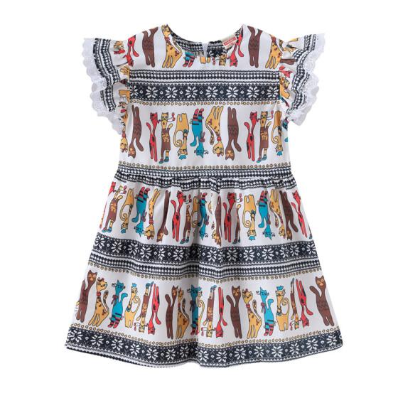 Boutique Toddler Baby Kids Girl Princess Summer Casual Dress Sundress Clothes UK