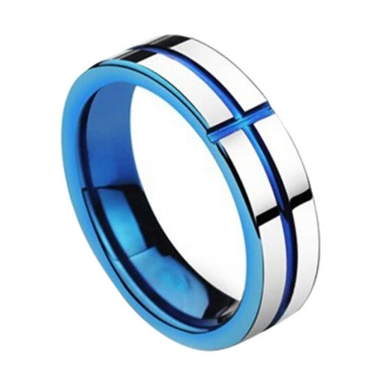 Men Fashion Punk Cross Titanium Steel Finger Ring Party Jewelry Accessory Gift