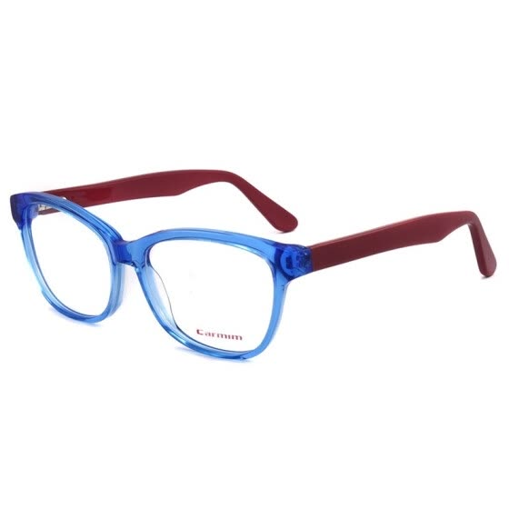 a1d9ef5197 New Crystal Blue Dark Red Cute Men Women Fashion Design Glasses Frame Clean  lens Acetate