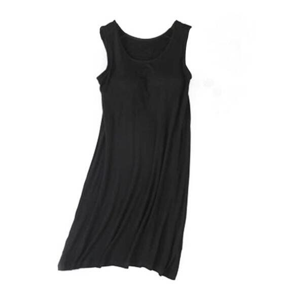 New Women sexy Nightgowns Concise Casual sleepwear Solid Color Sleeveless Loose Long Style Pullover nuisette sexy