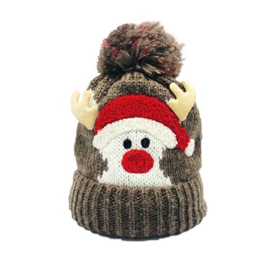 Winter Cute Knitted Hats Santa Claus Hats  Childrens Wool Caps Beanie Cap