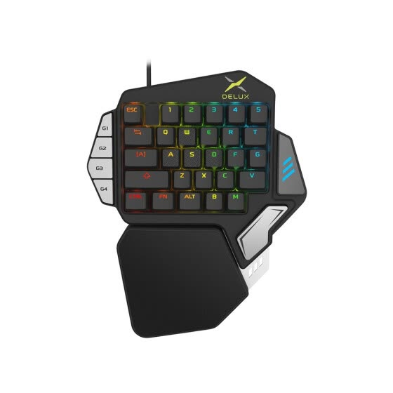 Shop Delux T9X Mechanical Wired Gaming Keyboard One Single