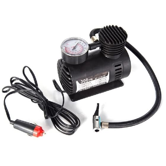 Car Mini Electric Inflation Pump Portable Tyre Air Inflator 300PSI Auto Compressor Pump for Car Motorcycle Basketball