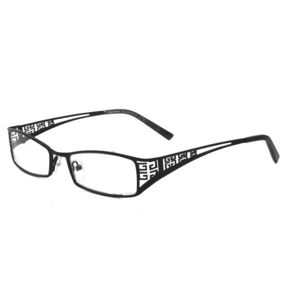 bc8c60ce050d Rectangle Lens Metal Eyeglasses Hollow Chinese Carving Temple Men Women Optical  Frames CMG7001