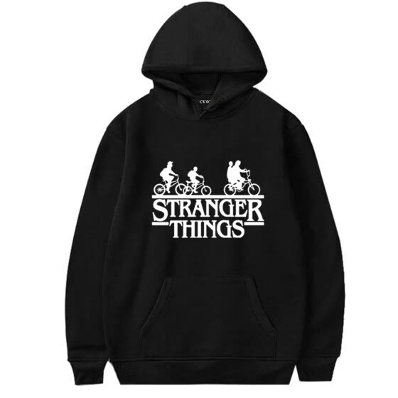 Herqw61 Women's Stranger Things 3 Netflix Movie Poster Hoodie Hip Hop Gift Pullover Sweatshirt