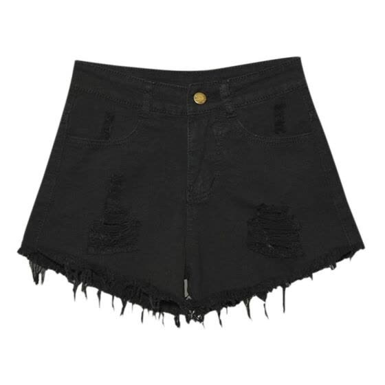 New 2018 Fashion Sexy Women High Waist Jeans Causal Ripped Hole Denim Jeans Shorts Fraying Edges Short Pants Plus Size 6XL