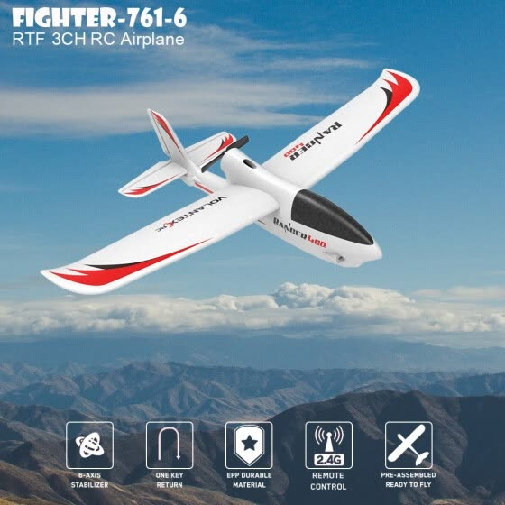 RC Plane 3CH Airplane Aircraft Built In Gyro System Easy To Fly RTF For Beginner