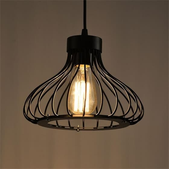Younglife Vintage Industrial Wind Wrought Iron Cage Chandelier Without Light Bulb And Plug