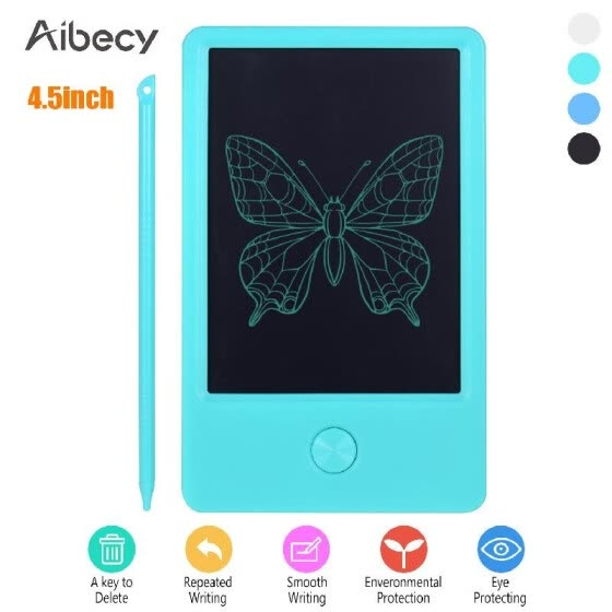 Aibecy Mini Pocket 4.5 Inch LCD Writing Tablet Electronic Graphics Drawing Board Handwriting Pad with Stylus Pen Erase Button Gift