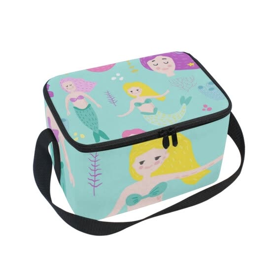 Shop ALAZA Insulated Lunch Box Cute Marine Girls Lunch Bag