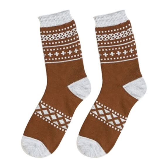 2 pairs Men Socks Autumn Winter Cotton Classic Christmas Pattern Plaid Striped Socks England Style 5 Colors HT