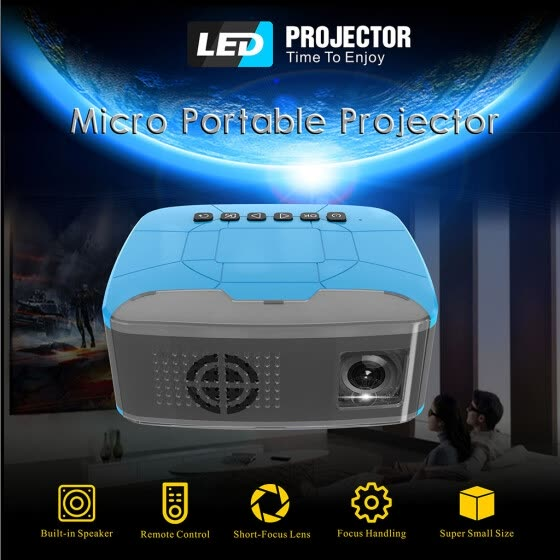 Mini Micro Portable Projector U20 Pocket HD USB HDMI Video Projector Home Cinema
