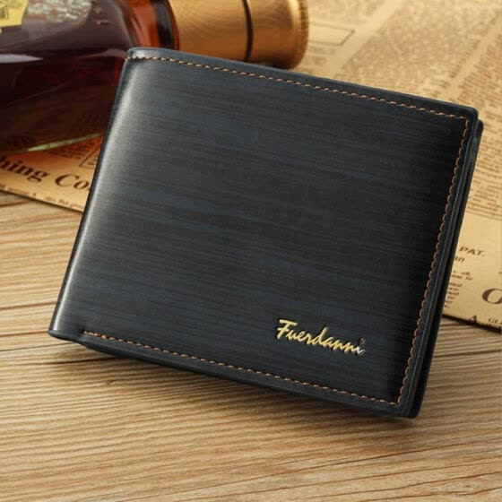 2019 Vintage Men's Quality PU Wallets Brand Luxury Short money Bag Fold Coin Purse Card Holder Slim Male Purses