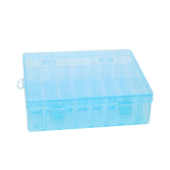 24 Slots Plastic Adjustable Jewelry Storage Box Organizer