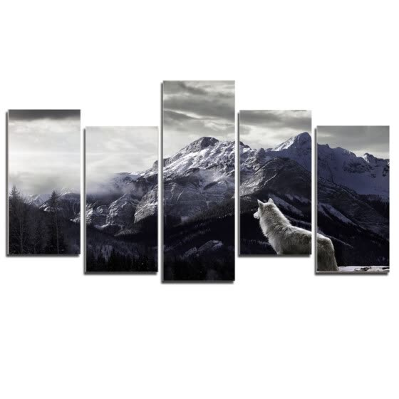 Household Decorative Wide Landscape Wall Art Painting Modern Frameless Canvas Painting Print Home Room Art Wall Decoration